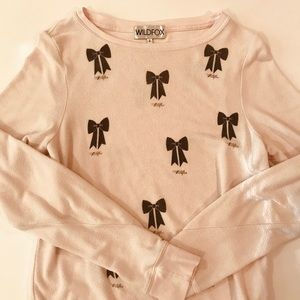 Wildfox soft pink sweater.
